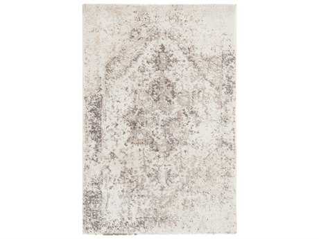 Surya Apricity Rectangular White, Taupe & Medium Gray Area Rug