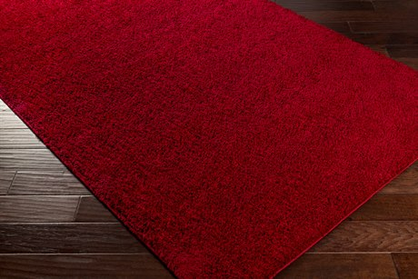 Surya Arlie Rectangular Burgundy Area Rug