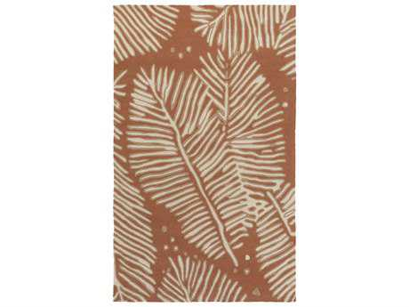 Surya Artisan Rectangular Rust Area Rug