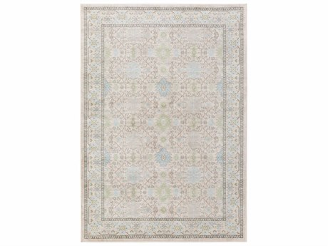 Surya Allegro Rectangular White, Ivory & Grass Green Area Rug