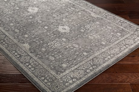 Surya Allegro Rectangular Khaki, Black & Medium Gray Area Rug