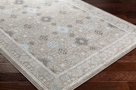 Surya Allegro Rectangular Medium Gray, White & Sky Blue Area Rug