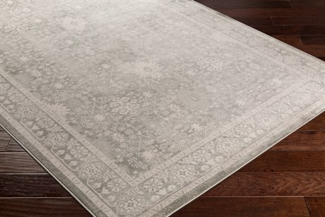 Surya Allegro Rectangular White, Ivory & Medium Gray Area Rug