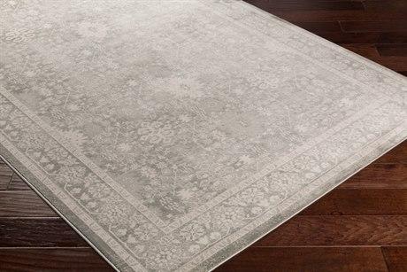 Surya Allegro Rectangular White, Ivory & Medium Gray Area Rug