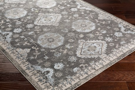 Surya Allegro Rectangular Ivory, Medium Gray & Black Area Rug