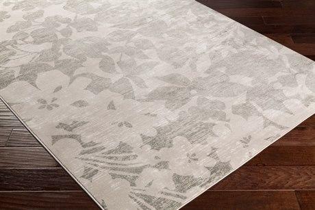 Surya Allegro Rectangular White, Khaki & Medium Gray Area Rug