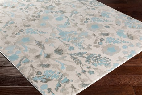 Surya Allegro Rectangular Ivory, Khaki & Medium Gray Area Rug