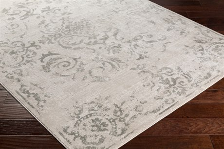 Surya Allegro Rectangular Ivory, Khaki & Medium Gray Area Rug