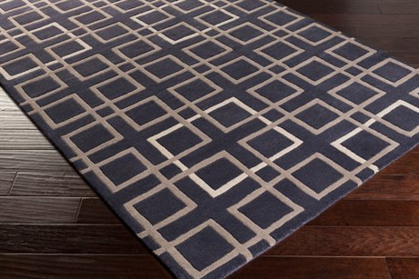 Surya Artist Studio Rectangular Navy, Camel & Cream Area Rug