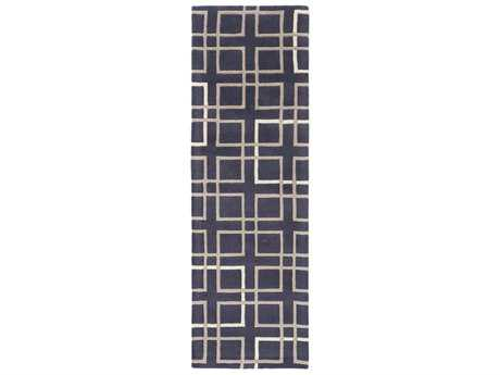 Surya Artist Studio 2'6'' x 8' Rectangular Navy, Camel & Cream Runner Rug