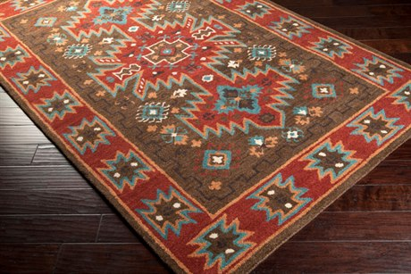 Surya Arizona Rectangular Red Area Rug