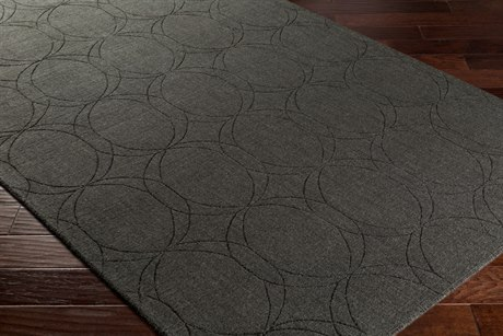 Surya Ashlee Rectangular Black Area Rug