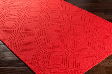 Surya Ashlee Rectangular Bright Red Area Rug