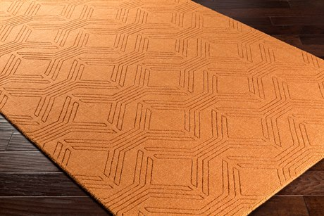 Surya Ashlee Rectangular Burnt Orange Area Rug