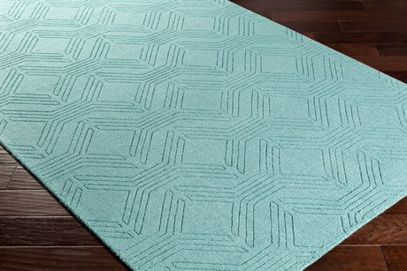 Surya Ashlee Rectangular Aqua Area Rug