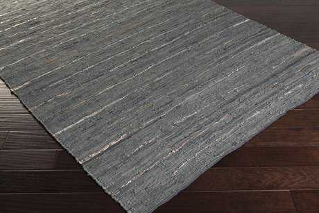 Surya Anthracite Rectangular Gray Area Rug