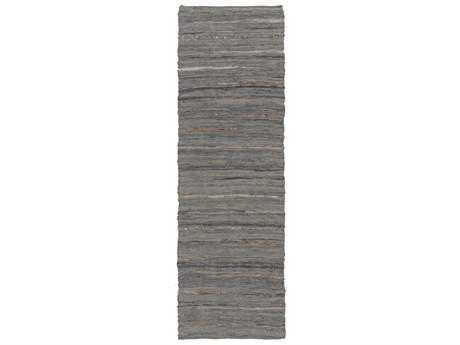 Surya Anthracite 2'6'' x 8' Rectangular Gray Runner Rug