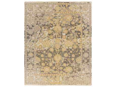 Surya Artifact Rectangular Medium Gray, Camel & Olive Area Rug