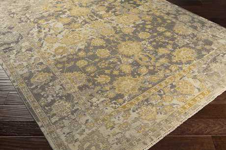 Surya Artifact Rectangular Medium Gray, Camel & Olive Area Rug