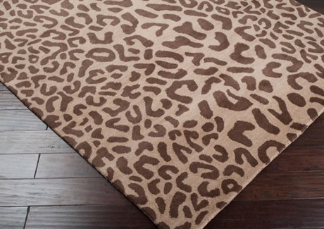 Surya Athena Brown 2' x 4' Hearth Rug