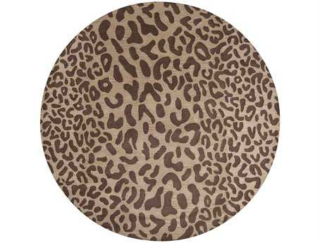 Surya Athena Round Brown Area Rug