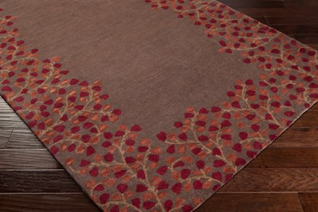 Surya Athena Rectangular Red Area Rug