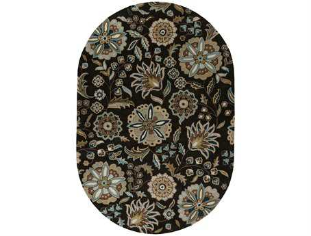 Surya Athena Oval Black Area Rug