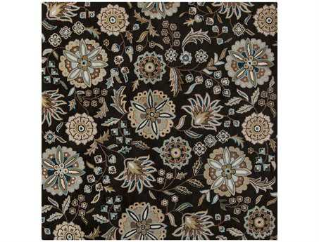 Surya Athena Square Black Area Rug