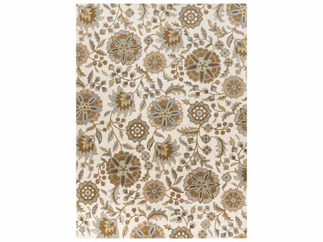 Surya Athena Rectangular White Area Rug