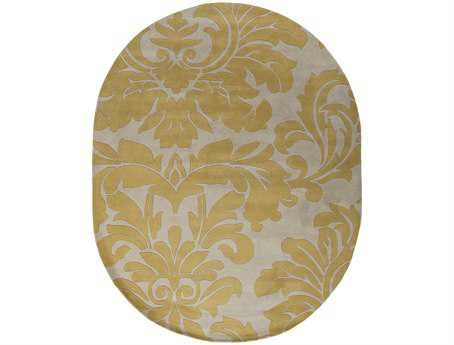 Surya Athena Oval Yellow Area Rug