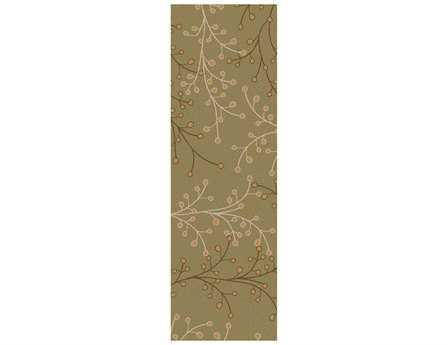 Surya Athena 2'6'' x 8' Rectangular Green Runner Rug
