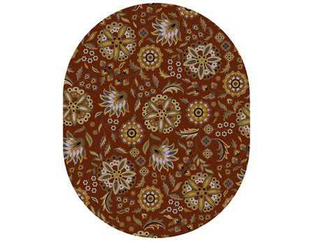 Surya Athena Oval Red Area Rug