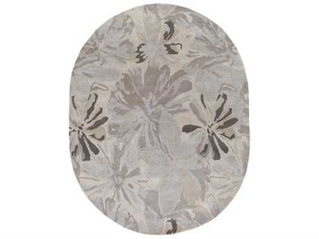 Surya Athena Oval Taupe, Light Gray & Charcoal Area Rug