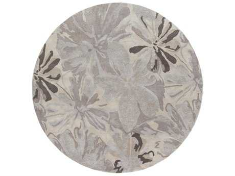 Surya Athena Round Taupe, Light Gray & Charcoal Area Rug
