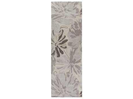 Surya Athena Rectangular Taupe, Light Gray & Charcoal Runner Rug
