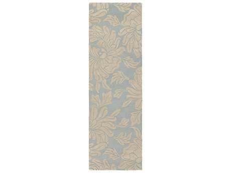 Surya Athena 2'6'' x 8' Rectangular Light Blue & Ivory Runner Rug