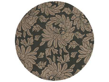 Surya Athena 8' Round Gray & Ivory Area Rug