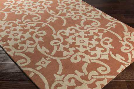 Surya Athena Rectangular Rust & Ivory Area Rug