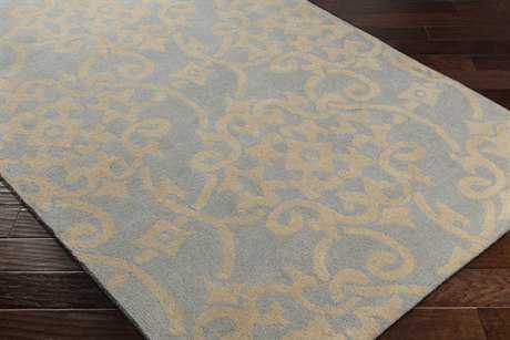 Surya Athena Rectangular Light Blue & Ivory Area Rug