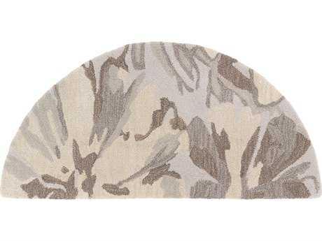 Surya Athena 2' x 4' Hearth Light Gray, Khaki & Dark Brown Area Rug