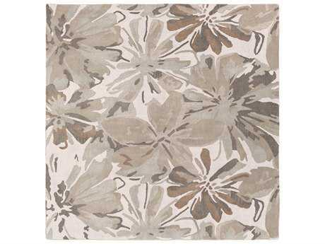 Surya Athena Square Light Gray, Khaki & Dark Brown Area Rug
