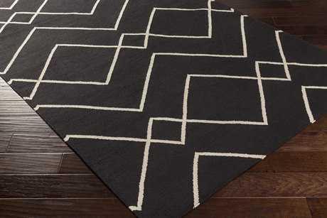 Surya Atrium Rectangular Black Area Rug