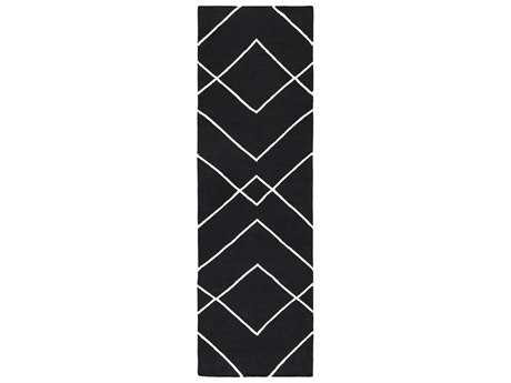 Surya Atrium 2'6'' x 8' Rectangular Black Runner Rug