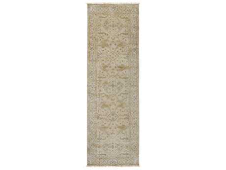 Surya Antique 2'6'' x 8' Rectangular Sage, Khaki & Camel Runner Rug