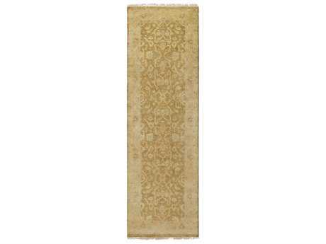 Surya Antique 2'6'' x 8' Rectangular Tan, Khaki & Wheat Runner Rug