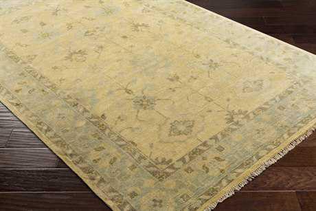Surya Antique Rectangular Khaki, Pale Blue & Tan Area Rug
