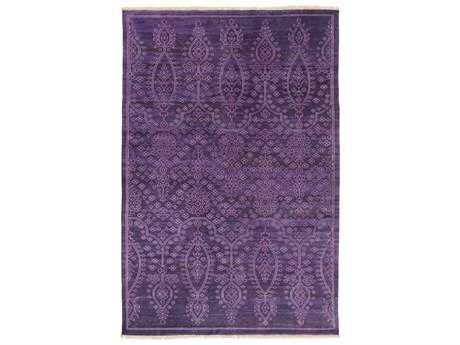 Surya Antique Rectangular Violet Area Rug