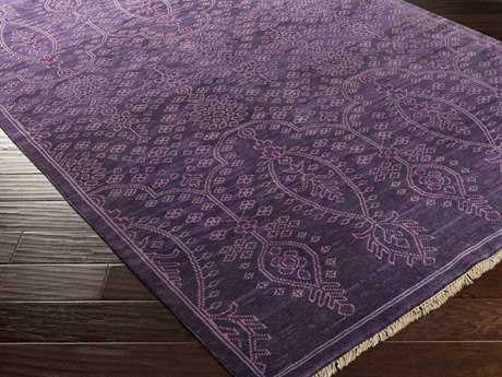 Surya Antique Rectangular Violet Area Rug