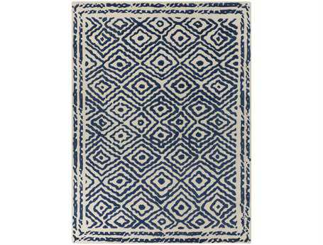 Surya Atlas Rectangular Blue Area Rug