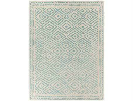 Surya Atlas Rectangular Teal Area Rug